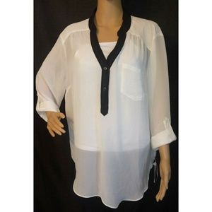 Alyx Sheer Long Sleeved White Blouse